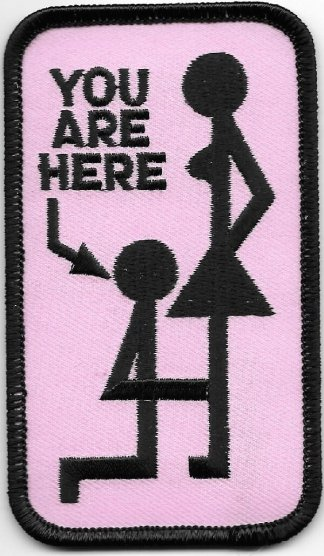 Biker Patch. You Are Here. Hers | Patches