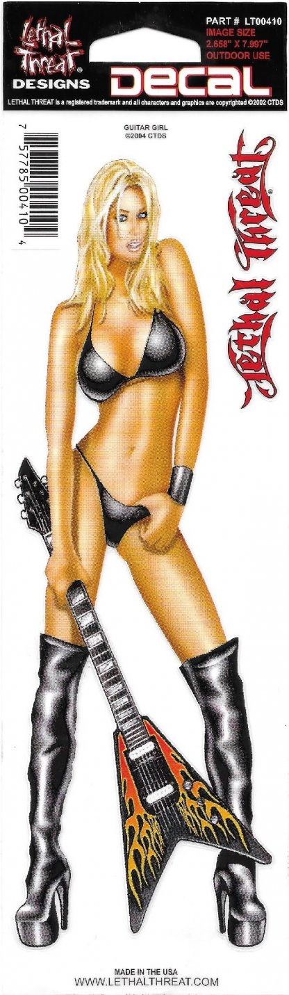 Guitar Girl Decal | Motorcycle Accessories