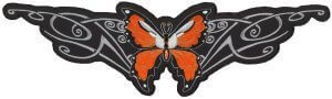 Lethal Angel Orange Butterfly Biker Patch   Patches