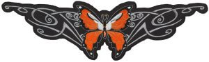 Lethal Angel Orange Butterfly Biker Patch | Patches