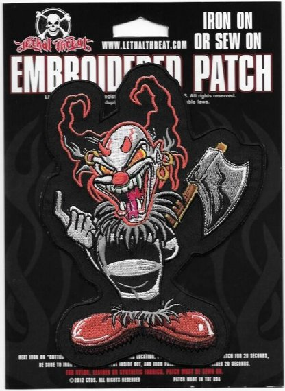 Lethal Threat Ax Clown Biker Patch | Patches