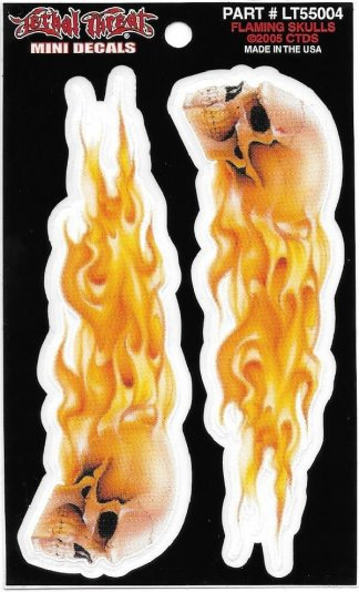 Flaming Skull Decal | Motorcycle Accessories