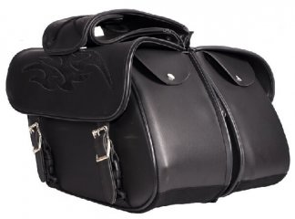Zip off PVC Saddlebags | Motorcycle Accessories