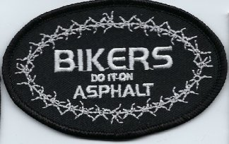 Bikers Do It On Asphalt With Barbed Wire | Patches