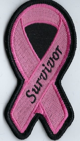 Breast Cancer Awareness Ribbon With Survivor | Patches