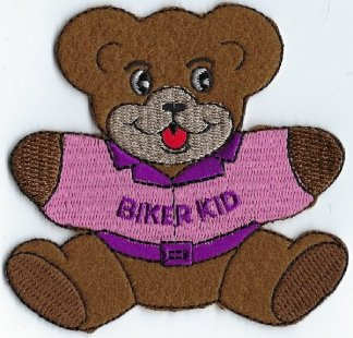 Biker Kid Teddy Bear With Jacket | Patches