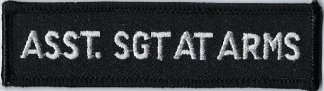 Asst. Sgt At Arms | Patches