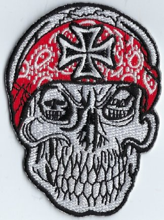 Skull Bandana With Iron Cross | Patches