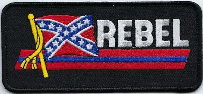 Rebel With Flag | Patches
