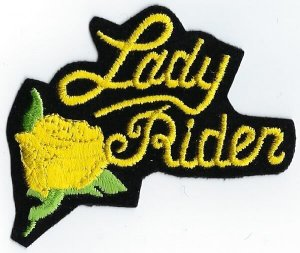 Lady Rider With Rose | Patches