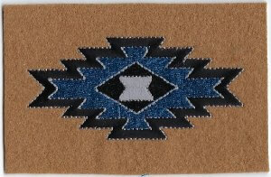 Brown Navaho Design   Patches