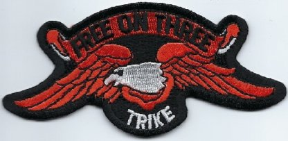 Eagle With Free On Three Trike   Patches
