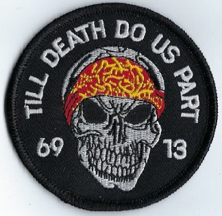 "Skull With ""Till Death Do Us Part"