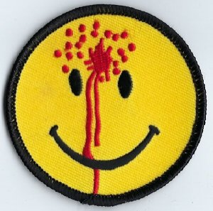 Smiley Face With Bullet Hole | Patches