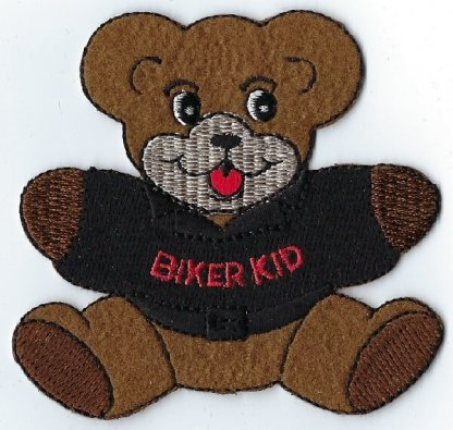 Biker Kid Teddy Bear With Jacket   Patches