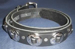 Leather Concho Belt   Clothing