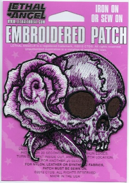 Floral Skull Right | Patches