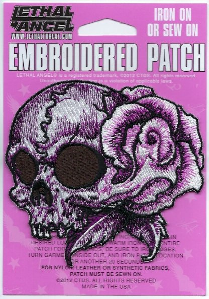 Floral Skull Left | Patches