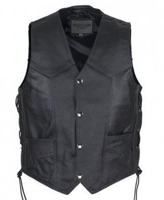 Kids Leather Vest | Clothing