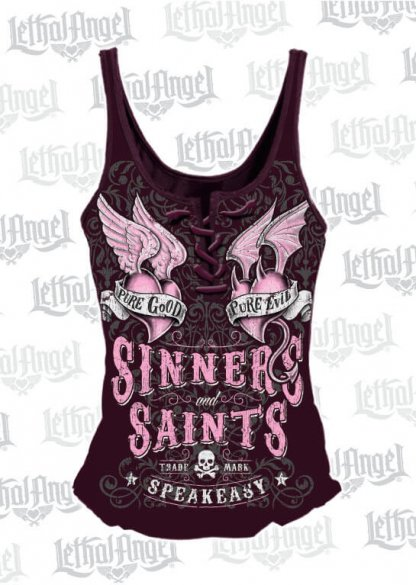 Sinners & Saints Lace-Up Tank Top | Clothing