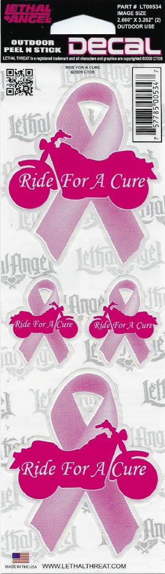 Ride for a Cure Decal | Motorcycle Accessories