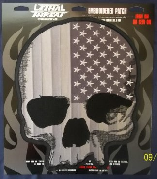 USA Skull Black & White | Patches