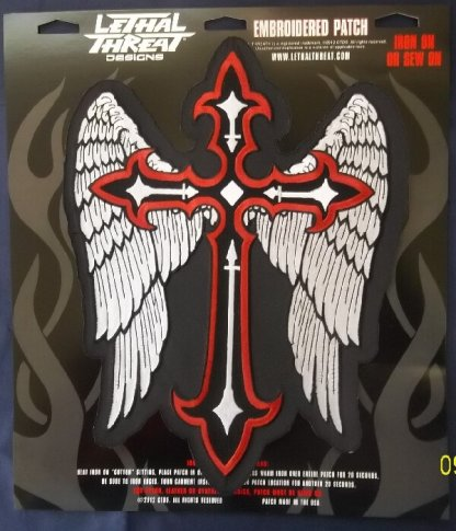 Winged Cross   Patches