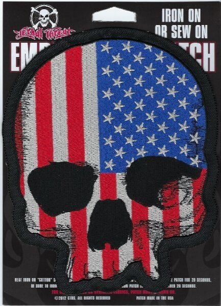 USA Skull   Patches