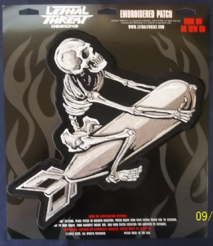 Skeleton on Bomb | Patches