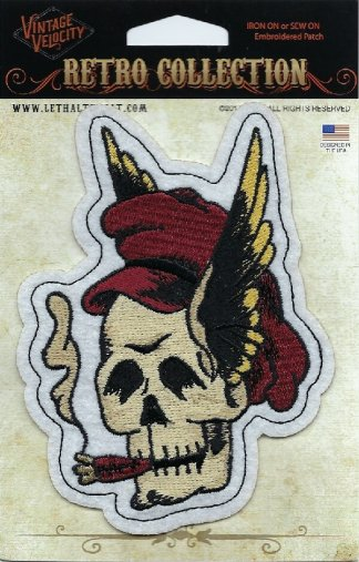 Winged Vintage Skull | Patches