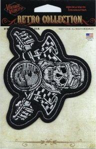 Vintage Skull Biker   Patches